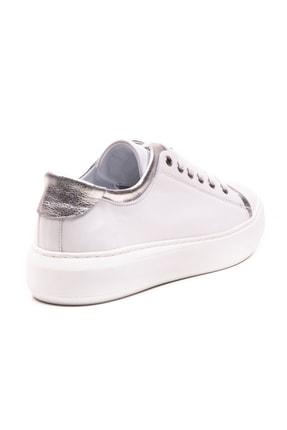 GRADA Beyaz Gümüş Hakiki Deri Günlük Spor Kadın Ayakkabı 2