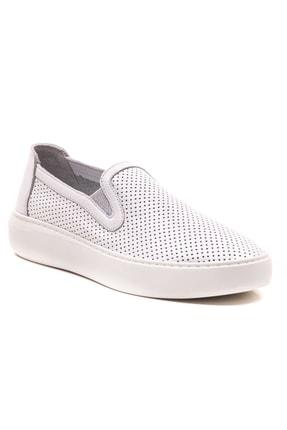 GRADA Beyaz Mokasen Hakiki Deri Kadın Ayakkabı 0