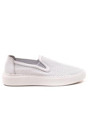 GRADA Beyaz Mokasen Hakiki Deri Kadın Ayakkabı 1