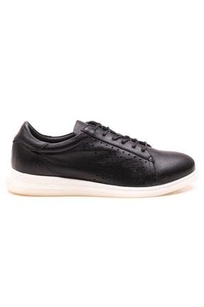GRADA Siyah Deri Günlük Casual Kadın Ayakkabı 1