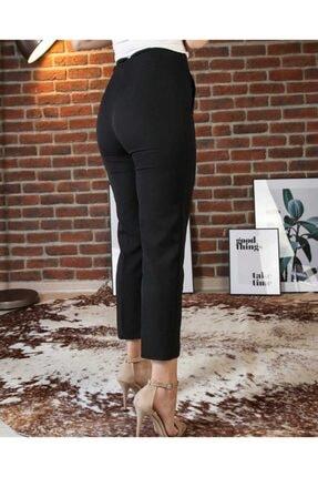 The pantolon Biye Detaylı Siyah Renk Kadın Havuç Pantolon 1