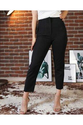 The pantolon Biye Detaylı Siyah Renk Kadın Havuç Pantolon 2