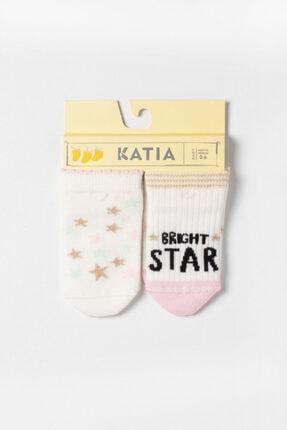 Katia & Bony Ocean Odyssey Star 2 Pck. Bebek Çorap - Ekru 0