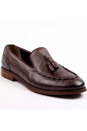 MPP Hakiki Deri Loafer Erkek Ayakkabı Trs503 Kahverengi 0