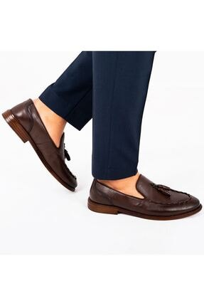 MPP Hakiki Deri Loafer Erkek Ayakkabı Trs503 Kahverengi 2