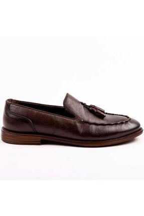 MPP Hakiki Deri Loafer Erkek Ayakkabı Trs503 Kahverengi 3
