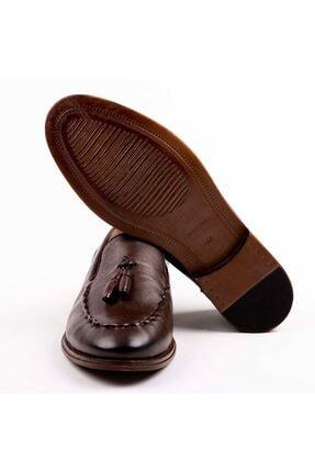 MPP Hakiki Deri Loafer Erkek Ayakkabı Trs503 Kahverengi 4