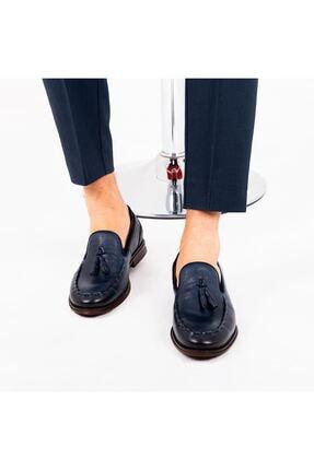 MPP Hakiki Deri Loafer Erkek Ayakkabı Trs503 Lacivert 2