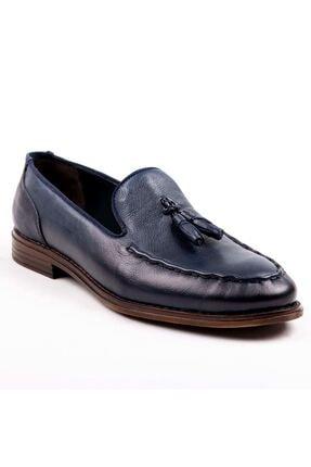 MPP Hakiki Deri Loafer Erkek Ayakkabı Trs503 Lacivert 3