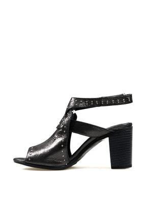Hammer Jack Siyah Saten Kadın Ayakkabı 538 111-z 3