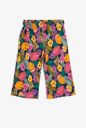 Koton Lacivert Desenli Kız Çocuk Pantolon 0