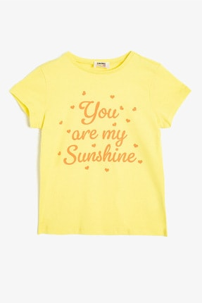 Koton Sarı Kız Çocuk T-Shirt 0