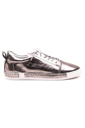 GRADA Kadın Nikel Metalik Deri Parlak Ayakkabı 1