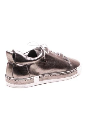 GRADA Kadın Nikel Metalik Deri Parlak Ayakkabı 3