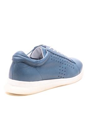 GRADA Kadın Kot Mavisi Deri Günlük Casual Ayakkabı 3