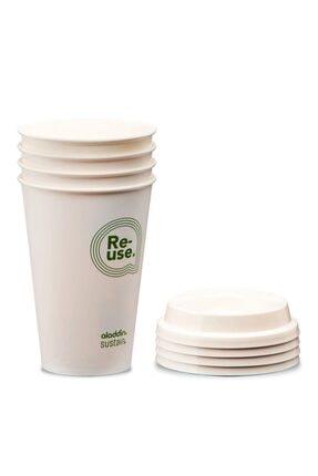 Aladdin Re-use Sustain Cup & Lid 0,35 lt 4lü Paket 0
