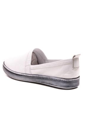 GRADA Beyaz Sade Düz Hakiki Deri Kadın Ayakkabı 2