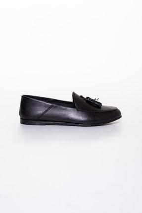 Rome Slippers Hakiki Deri Siyah Kadın Sandalet Rt-802 1