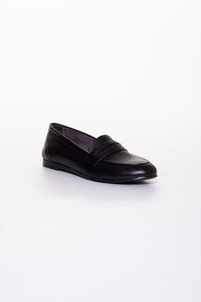 Rome Slippers Hakiki Deri Siyah Kadın Sandalet Rt-804 1