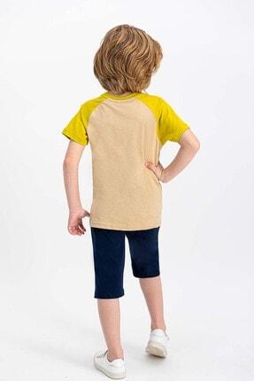 US Polo Assn Erkek Çocuk Bej Lisanslı Kum  Kapri Takım 2