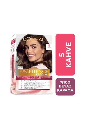 L'Oreal Paris Saç Boyası - Excellence Creme 5 Kahve 3600523736645 0