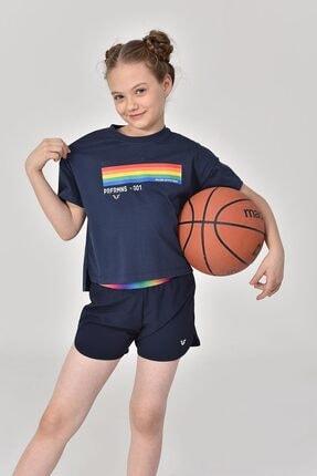 bilcee Lacivert Kız Çocuk T-Shirt GS-8150 2