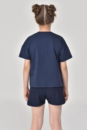 bilcee Lacivert Kız Çocuk T-Shirt GS-8150 4