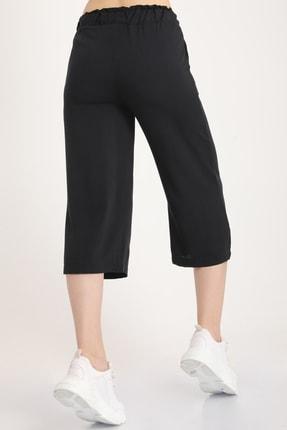 MD trend Kadın Siyah Bel Lastikli Bağlamalı Kısa Pantolon Mdt5979 3