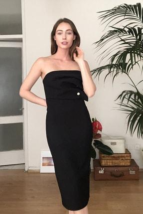 TRENDYOLMİLLA Siyah Aksesuar Detaylı  Elbise TPRSS20EL2177 1