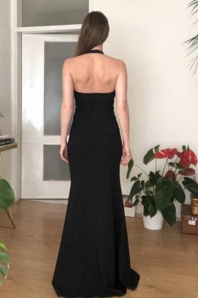 TRENDYOLMİLLA Siyah Yaka Detaylı Abiye & Mezuniyet Elbisesi TPRSS20AE0205 3