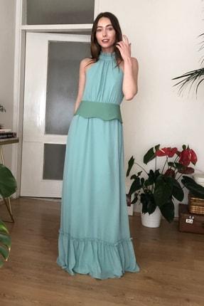 TRENDYOLMİLLA Mint Kemerli Abiye & Mezuniyet Elbisesi TPRSS20AE0289 2