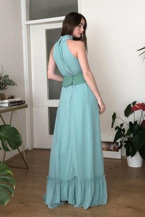 TRENDYOLMİLLA Mint Kemerli Abiye & Mezuniyet Elbisesi TPRSS20AE0289 4
