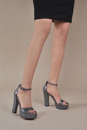تصویر از Kadın  Platin-Slt Klasik Topuklu Ayakkabı VZN20-031Y