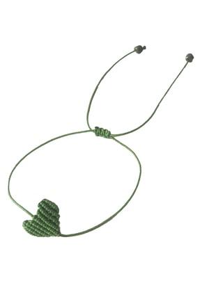 Premium ONLY Kalpli Makrome Ayarlanabilir Bileklik Yeşil Handmade - El Yapımı 0
