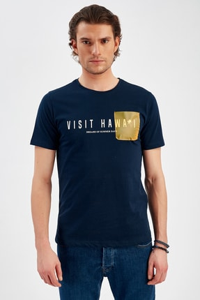 Lacivert Erkek Cepli T-shirt | Me20s214725 ME20S214730