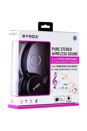 Syrox S16 Kablosuz Bluetooth Kulak Üstü Kulaklık 2