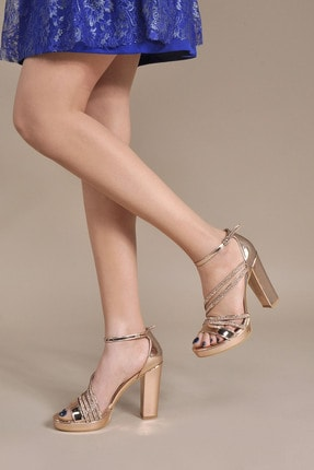 Vizon Ayakkabı Kadın  Bakır Klasik Topuklu Ayakkabı VZN20-041Y 0