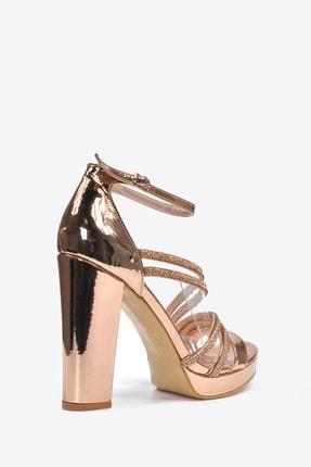 Vizon Ayakkabı Kadın  Bakır Klasik Topuklu Ayakkabı VZN20-041Y 1