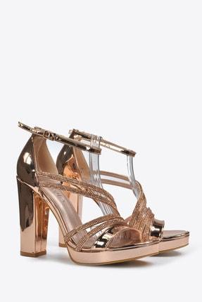 Vizon Ayakkabı Kadın  Bakır Klasik Topuklu Ayakkabı VZN20-041Y 3