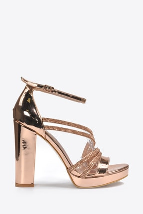 Vizon Ayakkabı Kadın  Bakır Klasik Topuklu Ayakkabı VZN20-041Y 4