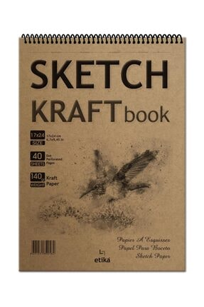 Etika Sketchbook Kraft B5 Spiralli 140 Gr. 40 Yaprak 17x24 Cm Eskiz Defteri 0