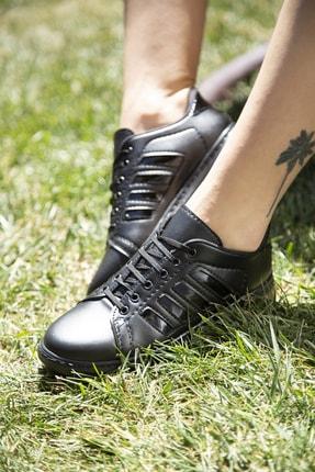 Ayakkabı Modası Siyah Kadın Spor Ayakkabı M4000-19-101002R 1