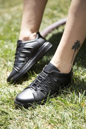 Ayakkabı Modası Siyah Kadın Spor Ayakkabı M4000-19-101002R 4