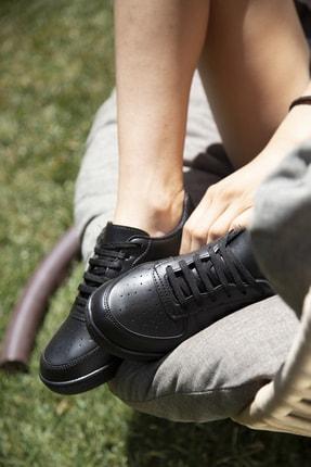 Ayakkabı Modası Siyah Kadın Spor Ayakkabı 4000-20-101001 1