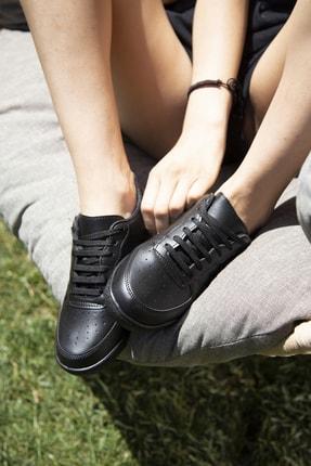 Ayakkabı Modası Siyah Kadın Spor Ayakkabı 4000-20-101001 2