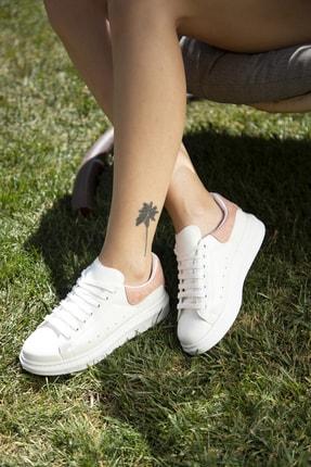 Ayakkabı Modası Beyaz-Pudra Kadın Casual Ayakkabı 5007-20-110001 0