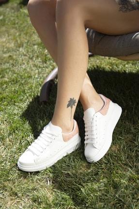 Ayakkabı Modası Beyaz-Pudra Kadın Casual Ayakkabı 5007-20-110001 1