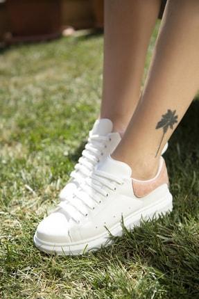 Ayakkabı Modası Beyaz-Pudra Kadın Casual Ayakkabı 5007-20-110001 3