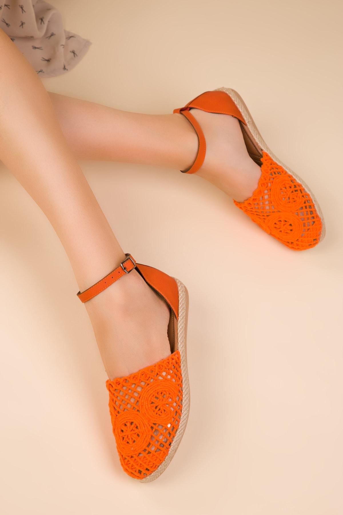Turuncu Kadın Sandalet 15046
