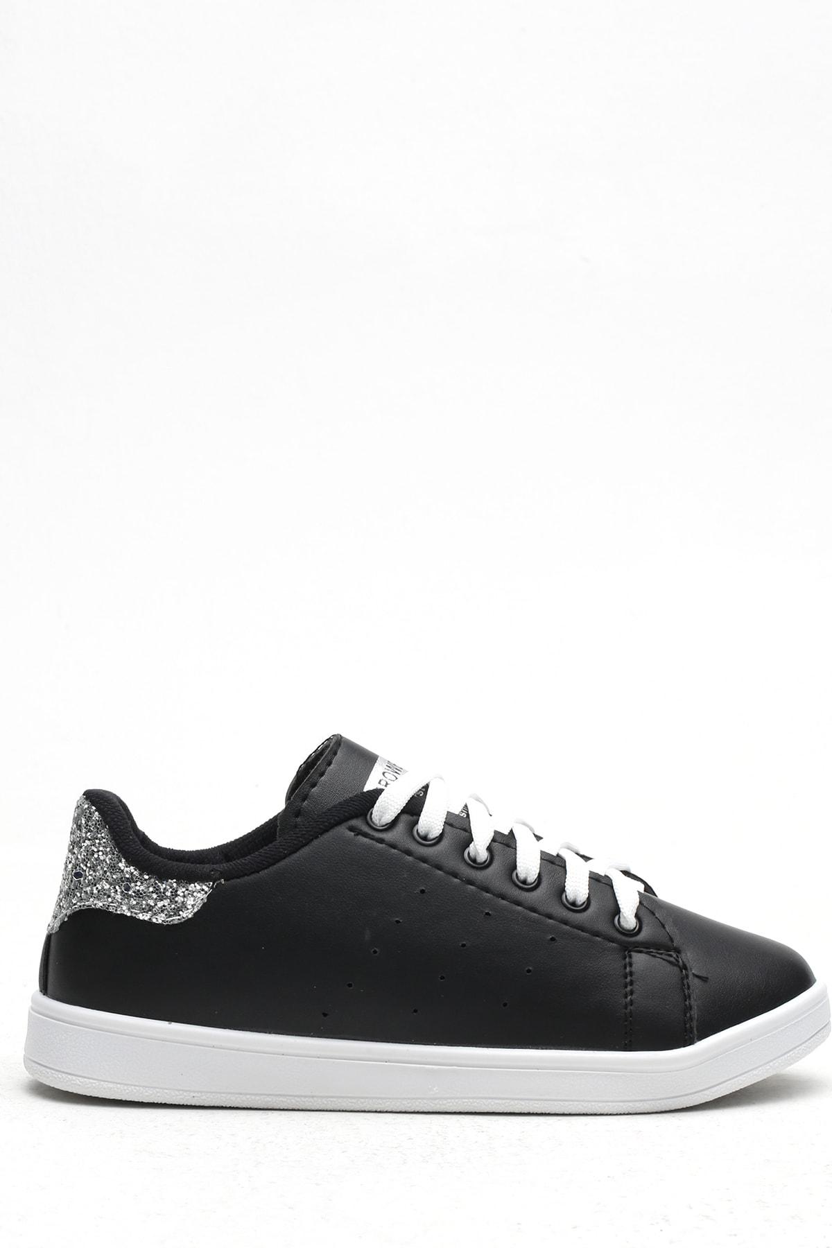 Ayakkabı Modası Siyah-Platin Kadın Casual Ayakkabı BM-4000-19-110003 0